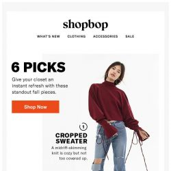 [Shopbop] Bored of your clothes? Read this!