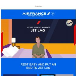 [AIRFRANCE] How to fight against a jet lag
