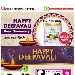 [Qoo10] Enjoy this Deepavali with Great Deals! FREE Moringa Tea up for Grabs! Limited to 100 Quantity Only! Hurry Grab Now!