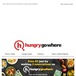 [HungryGoWhere] 4th Dines Free, Lunch Set from $9.90, & more for your lunch deals!