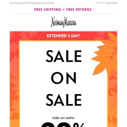 [Neiman Marcus] Extended 1 day! Extra 20% off sale items