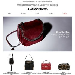 [LUISAVIAROMA] Shoulder Bags: A selection just for you
