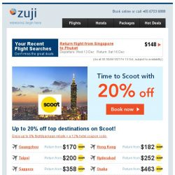 [Zuji] Exclusive Fares: You're Scoot to go!