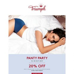 [Triumph] TGIF It's A Panty Party - 20% & 70% OFF!