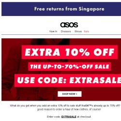 [ASOS] Extra 10% off the up-to-70%-off sale