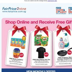 [Fairprice] Shop Online and Receive Free Gifts!