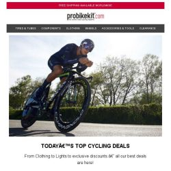 [probikekit] Today's top cycling offers...