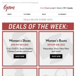 [6pm] $49.99 or Less Women's Shoes! What?!