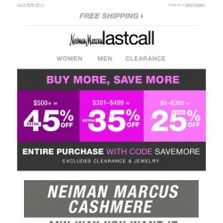 [Last Call] Neiman Marcus cashmere any way you want it