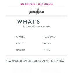 [Neiman Marcus] Just released - New arrivals from Neiman Marcus. Now unlocked!