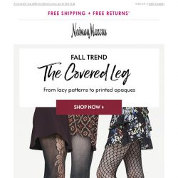 [Neiman Marcus] Cooler weather is coming! (& tights are in)