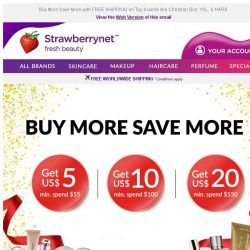 [StrawberryNet] , SAVE up to US$20 on your order now! LAST DAY!