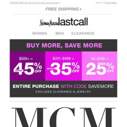 [Last Call] MCM handbag collectors rejoice: up to 45% off