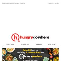 [HungryGoWhere] Here are some dining delicacies just for you,