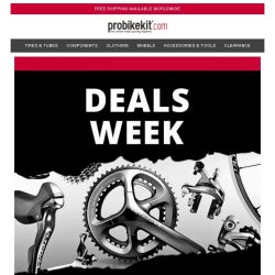 [probikekit] Daily Deal #1   Up to 60% off Top Brand Components...