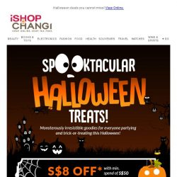 [iShopChangi] Scream with excitement 😱! Fang-tastic treats awaits!
