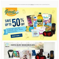 [Giant] ✨ Deals you can't MISS! ✨ Up to 50% off 💰 for Daily Essentials and Massager!