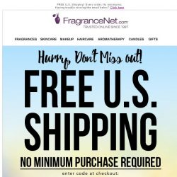[FragranceNet] New Markdowns + Free Shipping Coupon