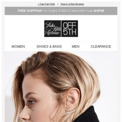 [Saks OFF 5th] Weather the cold in sleek style with up to 70% OFF coats!