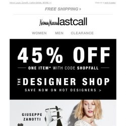 [Last Call] Extra 45% off the designer of your choice