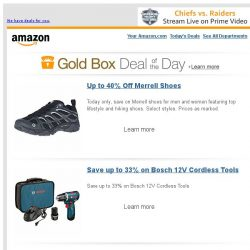 [Amazon] Up to 40% Off Merrell Shoes