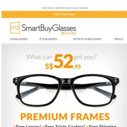 [SmartBuyGlasses] Just S$52.95 for your next pair of glasses includes a lot more than you'd expect!