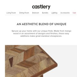 [Castlery] What's your accent? Unique standouts for your home.