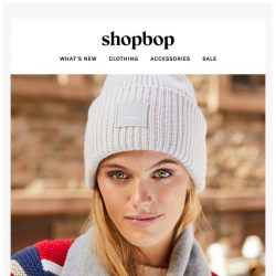 [Shopbop] Hats, scarves, and more warm layers