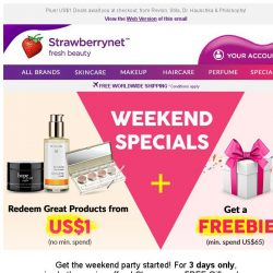 [StrawberryNet] , ready to snag your FREE Secret Gift + Free Int'l Shipping?