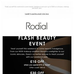 [RODIAL] Save Up To £50 This Weekend!
