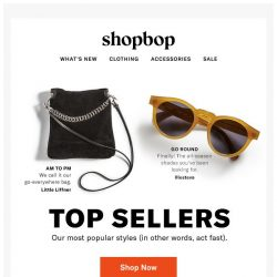 [Shopbop] Our most popular styles (act fast!)