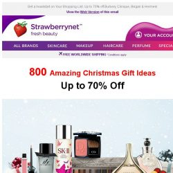 [StrawberryNet] 🎄 800 Amazing Christmas Gift Ideas for Beauty Lovers