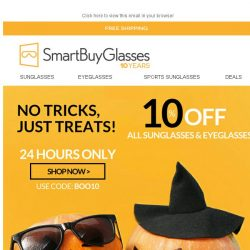 [SmartBuyGlasses] Halloween sale! Missing out will haunt you...🎃