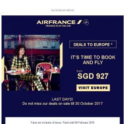 [AIRFRANCE] Last days to enjoy our Flying fares