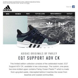 [Adidas] adidas Originals by Parley: The EQT Support ADV CK