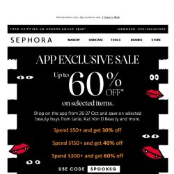 [Sephora] ⏰Get ready for up to 60% off*