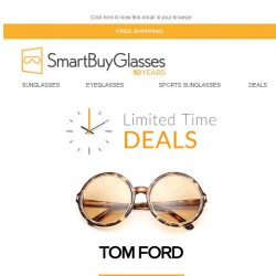 [SmartBuyGlasses] Deals of the Week on Tom Ford - Limited time only! 🕛