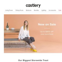 [Castlery] NEW ON SALE – Favourites on discount for the first time!