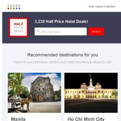 [Agoda] Hi , book now and get half off!
