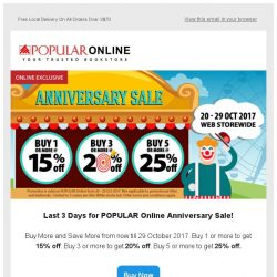 [Popular] Last 3 Days! 25% off for our Anniversary Sale
