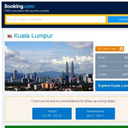 [Booking.com] Deals in Kuala Lumpur from S$ 21
