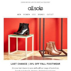 [Allsole] Ending Soon | 25% off The Boot Edit