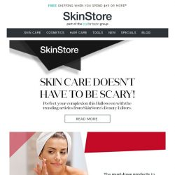 [SkinStore] Spooktacular Skin Care Tips From Our Experts