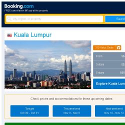 [Booking.com] Deals in Kuala Lumpur from S$ 47