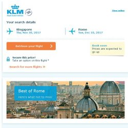 [KLM] Last seats to Rome, book soon