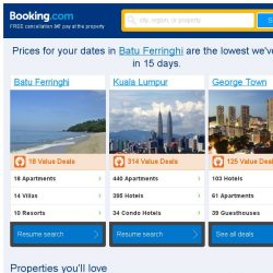 [Booking.com] Prices in Batu Ferringhi are the lowest we've seen in 15 days!