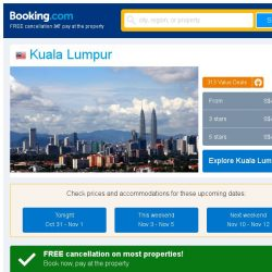 [Booking.com] Deals in Kuala Lumpur from S$ 26