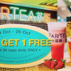 Partea: Buy 1 Get 1 FREE Cup of Tea at Suntec City