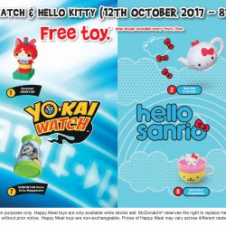 McDonald's: FREE Yo-Kai Watch or Hello Kitty Toy with Every Happy Meal Purchased