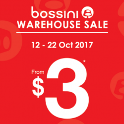 Bossini: Warehouse Sale with Items As Low As $3!